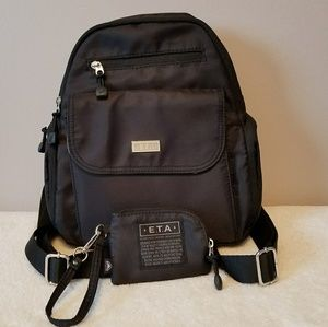E.T.A. Backpack/Purse Black 100% Polyester